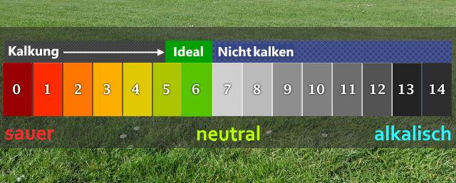pH Wert beim Rasen kalken