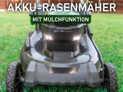 Akku Rasenmäher mit Mulchfunktion